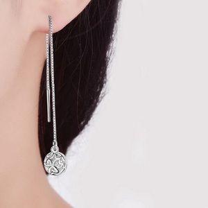 Sterling Silver 925 Pendant Earrings